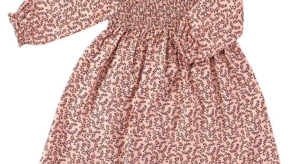 Pigeon Organics Leaf Print Smock Dress