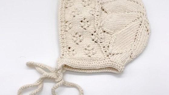 Penoora's Edie Cotton Knitted Bonnet