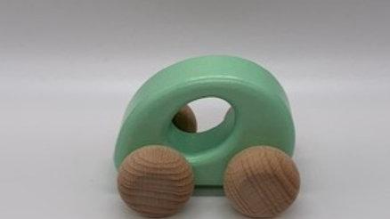 Mint Green Wooden Car