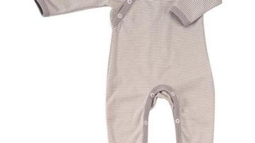 Romper Fine Stripe in Organic Cotton