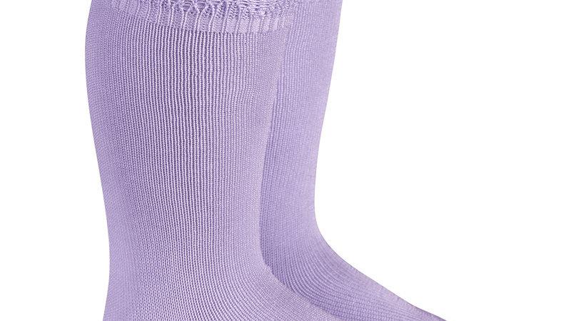 Lilac Condor Cotton Open Cuff Work Knee High