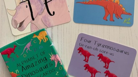 Amazing Dinosaur Alphabet Cards