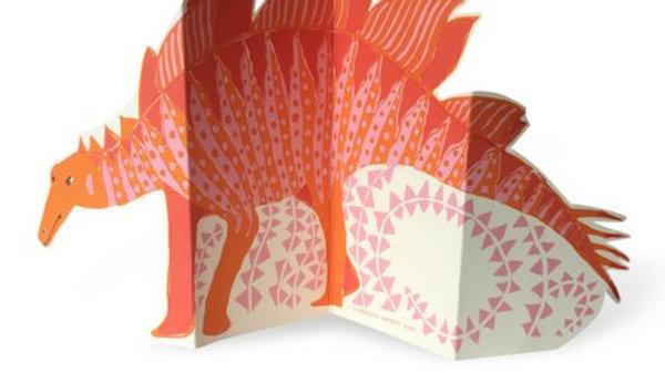 Stegosaurus Concertina Card