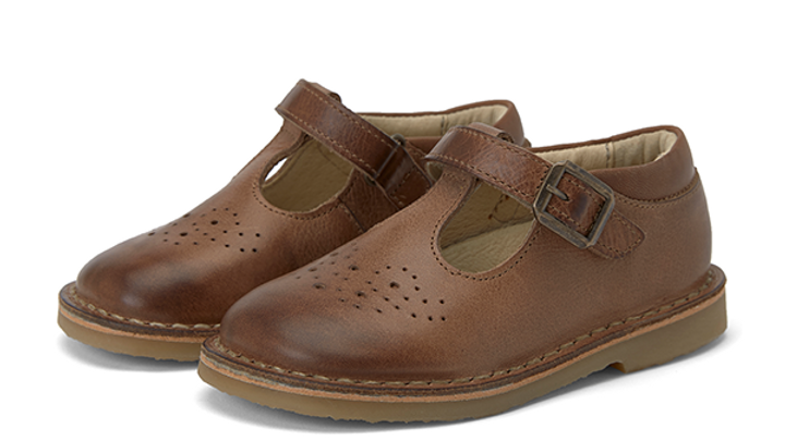 Young Soles Burnished Tan Penny T Bar