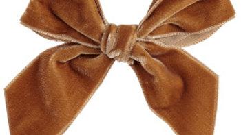 Condor Cinnamon Large Velvet Hairbow Clip