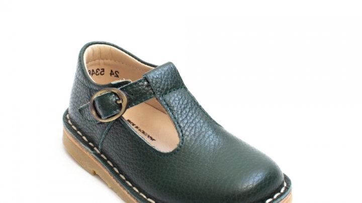 Petasil Olive Crosspatch T Bar Shoe