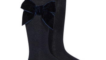 Condor Velvet Bow knee high socks