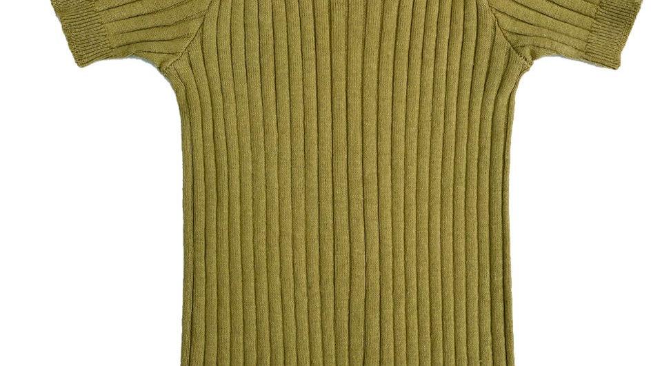 Mabli Caswell Nettle Skinny Rib Short Sleeve