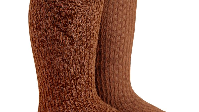 Condor Toffee Wool Blend Knee High Socks