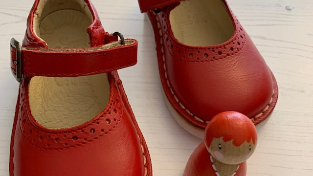 Young Soles Red Martha  Mary-Jane  Shoe
