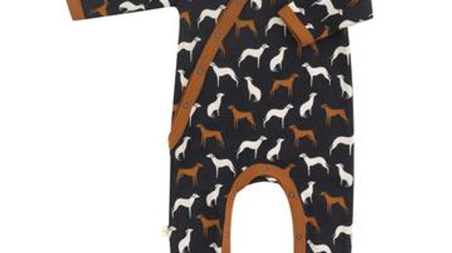 Romper with Dogs in Organic Cotton