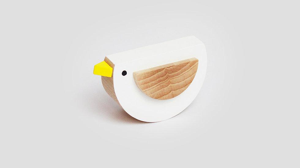 Kutulu Wooden Bird - White