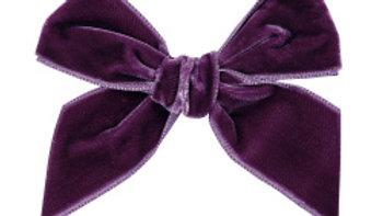 Condor Bordeaux Large Velvet Hairbow Clip
