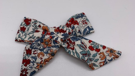 Liberty Wisley Flowers  Over Size Hair Bow