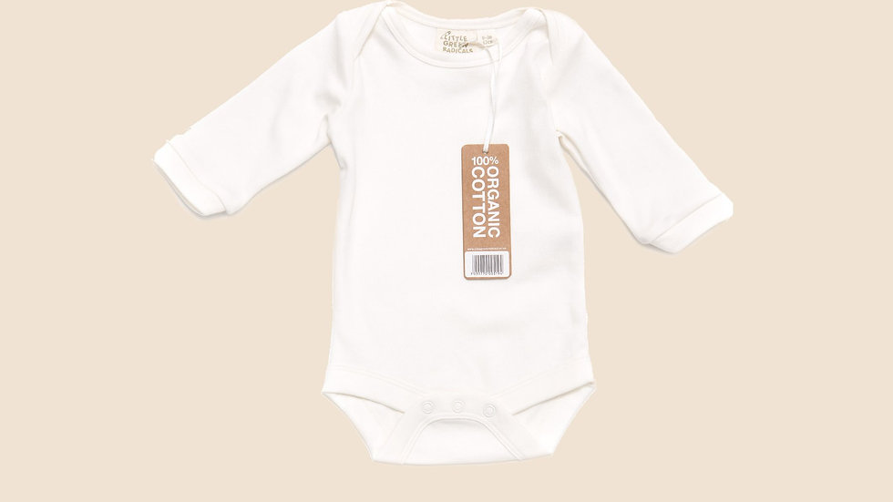 Little Green Radicals Natural Cotton Baby Body Long Sleeve Vest