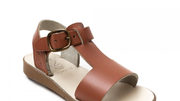 Samphire Tan Waterproof Leather Sandal