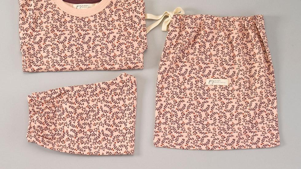 Pigeon Organics Leaf Print Pyjamas in a Bag