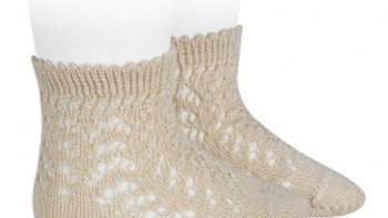 Condor Linen Open Work Cotton Ankle Sock