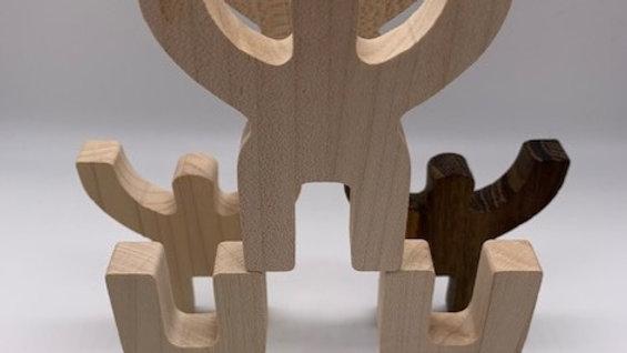 Wooden Balancing Acrobats