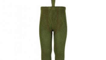 Condor Moss Green Merino Wool Blend Leggings with Suspenders
