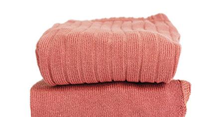 Condor Terracotta Cotton Rib Tights