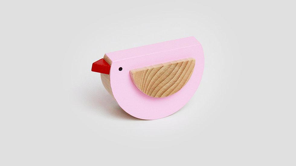 Kutulu Wooden Bird - Pink