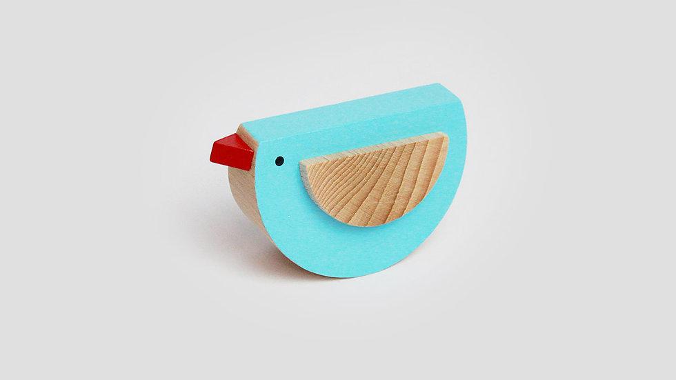 Kutulu Wooden Bird - Blue