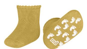 Condor Mustard Non Slip Terry Cotton Socks