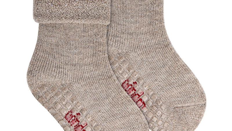 Condor Oatmeal Merino Wool Blend Non Slip Socks