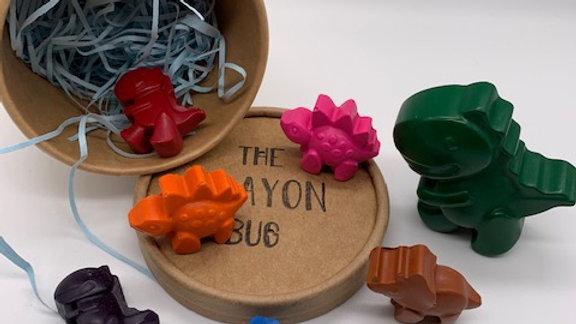 Dinosaur Crayons Tub
