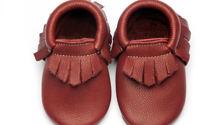 Wolfie & Willow Plum Eco Leather Moccasins