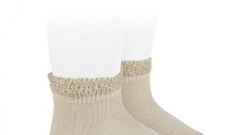 Linen Condor Cotton Open Cuff Work Ankle Socks