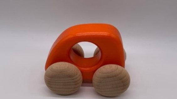 Orange Wooden Car