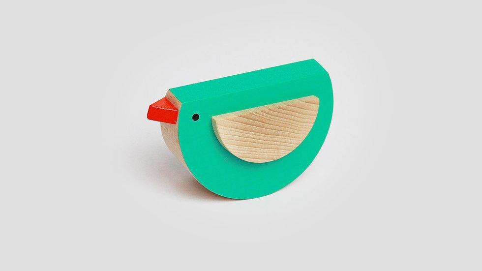 Kutulu Wooden Bird -Green