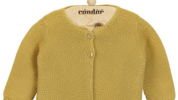 Condor Mustard  Cotton Cardigan