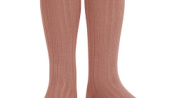 Condor Terracotta Knee High Cotton Rib Socks