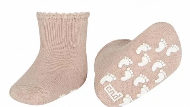 Condor Powder Rose  Non Slip Terry Cotton Socks