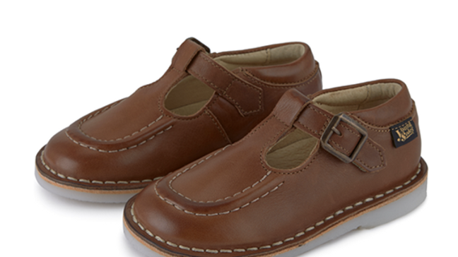 Young Soles of London  Parker Burnished Tan Retro T Bar
