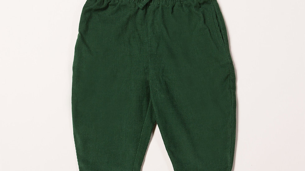 Little Green Radicals Vintage Green Needle Cord Trousers