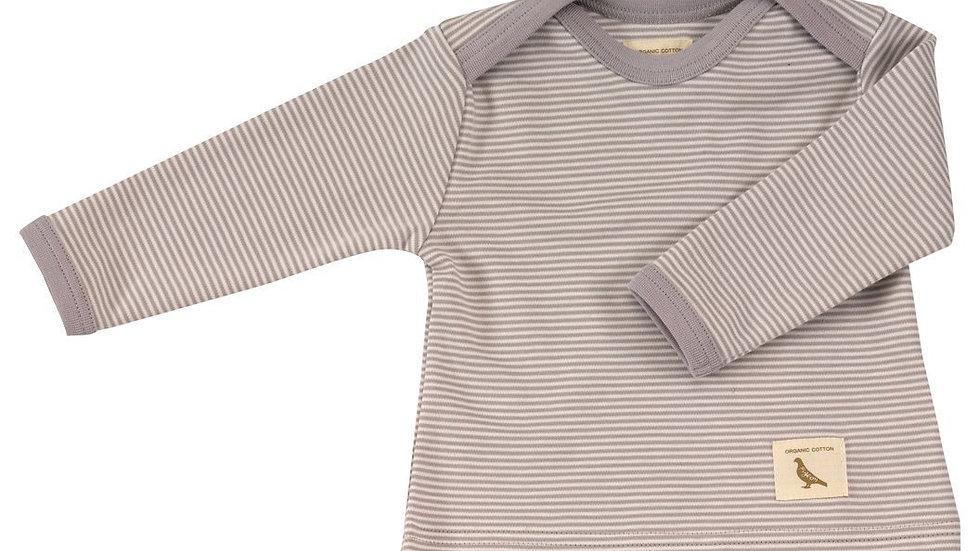 Pigeon Organics Slate and Cream Stripe Long Sleeve Top