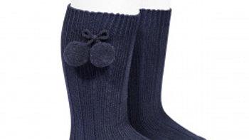 Condor Pom Pom  knee high socks