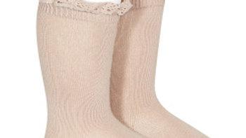 Condor Knee High Lace Top Socks