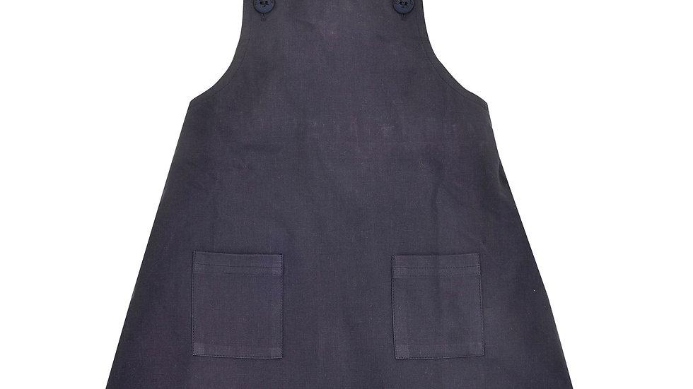 Pigeon Organics Navy Apron Dress