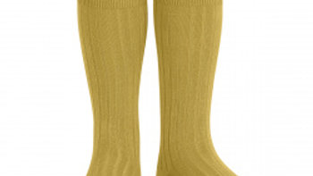 Condor Mustard Knee High Cotton Rib Socks