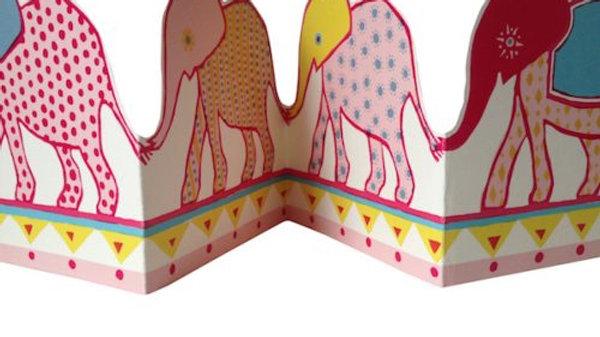 Elephant Concertina Card