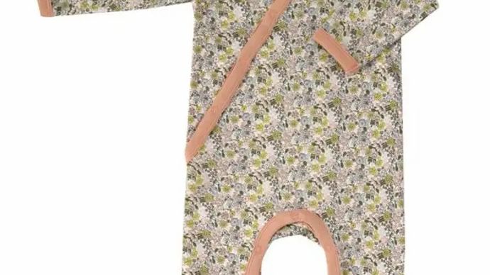 Romper Spring Floral in Organic Cotton