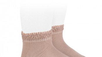 Powder Rose Condor Cotton Open Cuff Work Ankle Socks
