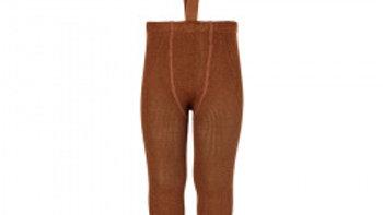 Condor Terracotta Merino Wool Blend Leggings with Suspenders