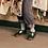 Thumbnail: Young Soles Pea Green Dottie T Bar