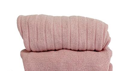 Condor Powder Rose Cotton Rib Tights
